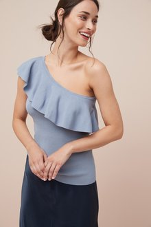 Next One Shoulder Ruffle Top