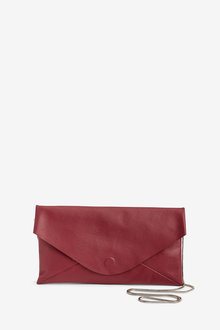 Next Leather Slouchy Clutch Bag