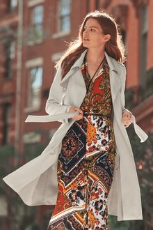 Next Suedette Trench Jacket- Tall