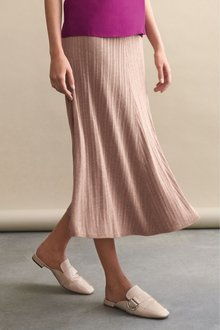 Next Pleated Midi Skirt