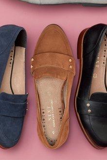 Next Leather Stud Loafers- Regular