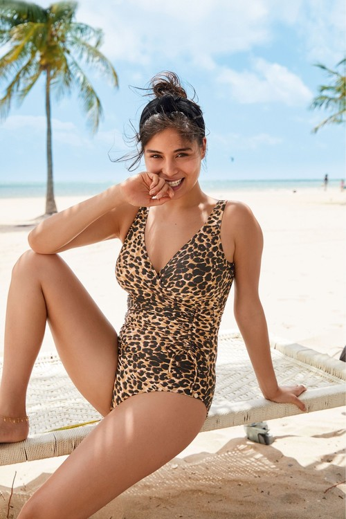 Next Ruched Side Shape Enhancing Swimsuit-Tall