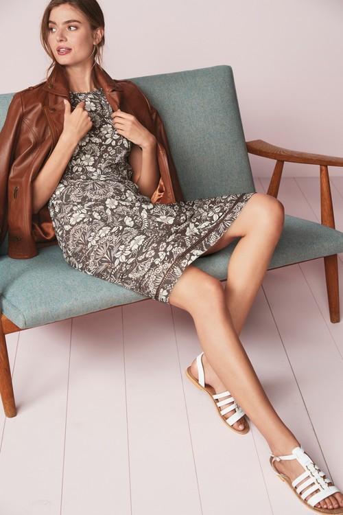Next Lace Trim Dress- Petite