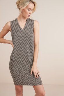 Next Sleeveless Jersey Shift Dress- Tall