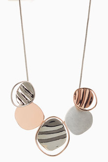 Next Wave Effect Metal Necklace