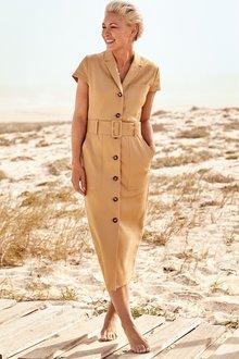 Next Emma Willis Belted Shirt Dress- Tall