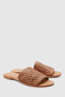 Next Leather Weave Mules