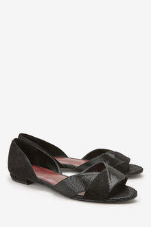 Next Forever Comfort Cross Over Peep Toes- Wide