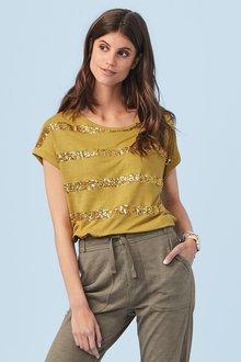Next Sequin Stripe T-Shirt