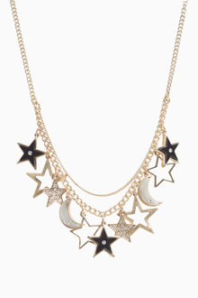 Next Star And Moon Charm Necklace