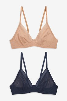 Next Lizzie Non Pad Mesh Bras Two Pack