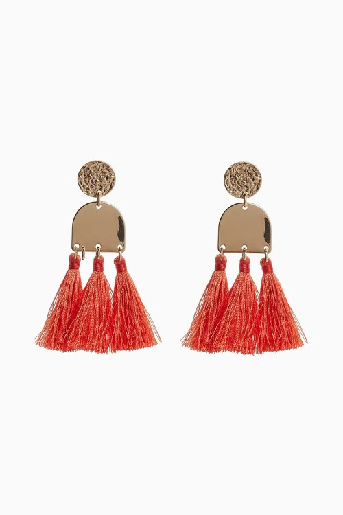 Next Coral Tassel Earrings