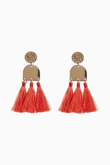 Next Coral Tassel Earrings
