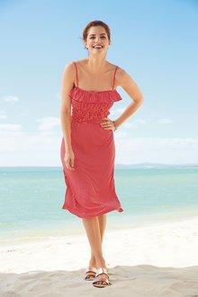 Next Shirred Midi Dress