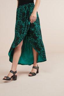 Next Wrap Maxi Skirt- Petite