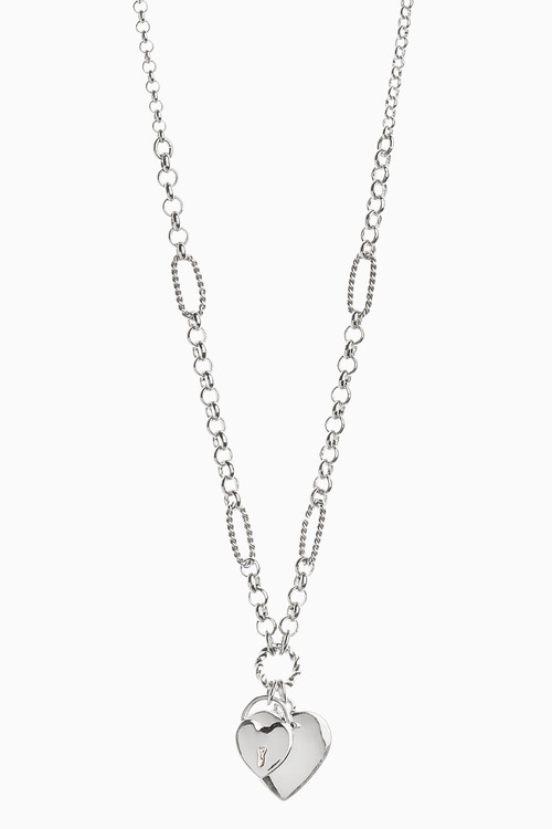 Next Heart Charm Link Detail Necklace
