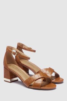 Next Forever Comfort Cross Over Block Heel Sandals