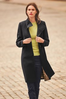 Next Funnel Neck Coat- Tall