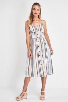 Next Stripe Button Dress
