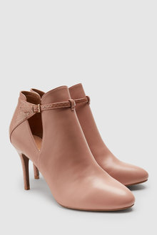 Next Leather Forever Comfort Open Side Shoe Boots