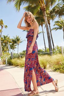Next Bandeau Maxi Dress- Tall