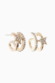 Next Star Sparkle Hoop Earrings