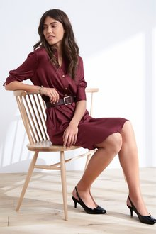 Next Satin Shirt Dress- Tall