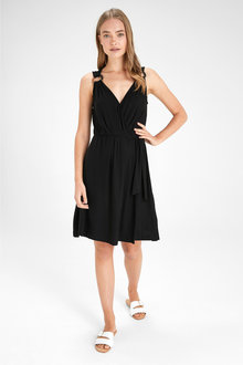Next Wrap O-Ring Detail Dress- Tall