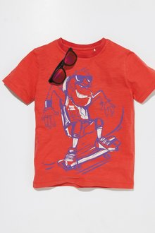 Next Monkey Skateboard Print T-Shirt (3-16yrs)