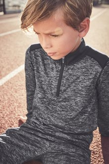 Next Sports Zip Neck Top (3-16yrs)