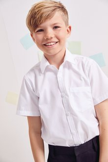 Next 2 Pack Concealed Velcro Fastening Short Sleeve Shirts (3-12yrs) - 239374