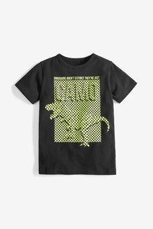 Next Checkerboard Dinosaur Graphic T-Shirt (3-14yrs)
