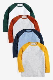 Next Raglan T-Shirts Four Pack (3-16yrs)