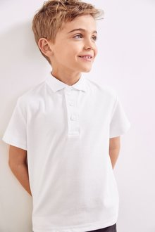 Next 2 Pack Concealed Velcro Fastening Poloshirts (3-12yrs)