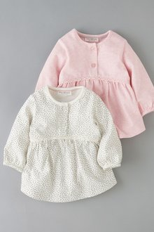 Next Lace Trim T-Shirts Two Pack (0mths-2yrs)