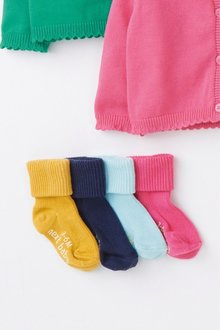 Next 4 Pack Roll Top Socks (Younger) - 239433