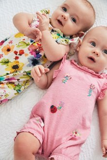 Next 2 Pack Jersey Rompers (0mths-2yrs)