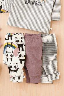 Next Panda Leggings Three Pack (0mths-2yrs)