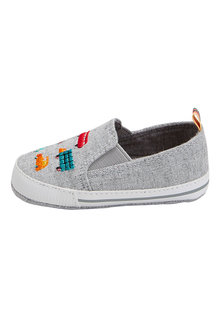 Next Pram Embroidered Transport Slip-On Shoes (0-24mths)