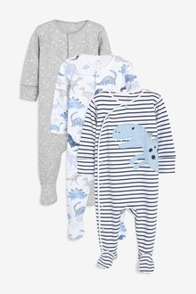 Next Dino Character Sleepsuits Three Pack (0mths-2yrs)