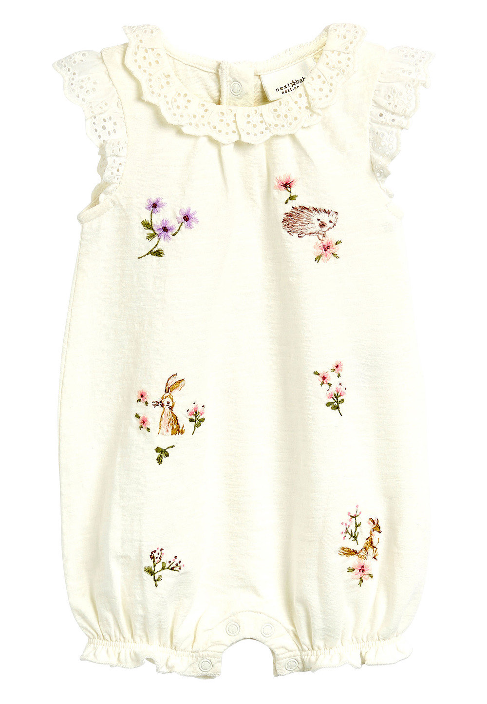 Next Bunny Embroidery And Floral Rompers Two Pack (0mths-2yrs