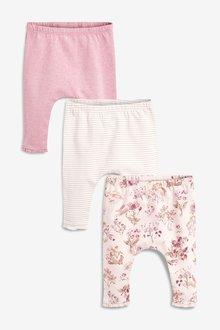 Next Floral Leggings Three Pack (0mths-2yrs)