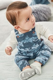 Next Camouflage Dungarees And Bodysuit Set (0mths-2yrs)
