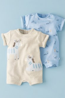 Next Zebra Rompers Two Pack (0mths-2yrs)