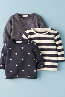 Next Star And Stripe T-Shirts Three Pack (0mths-2yrs)