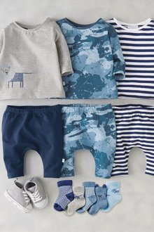 Next Stripe And Camouflage Leggings Three Pack (0mths-2yrs)