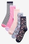 Next Pattern And Stripe Socks Five Pack