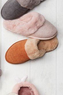 Next Faux Fur Mule Slippers