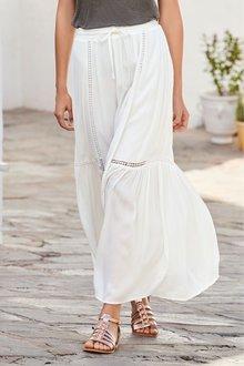 Next Lace Trim Maxi Skirt- Tall