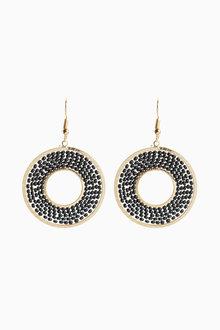 Next Circle Bead Earrings